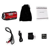 HDV-107 Digital Video Camcoer Camera HD 720P 16MP DVR 2.7'' TFT LCD Screen 16x-Red