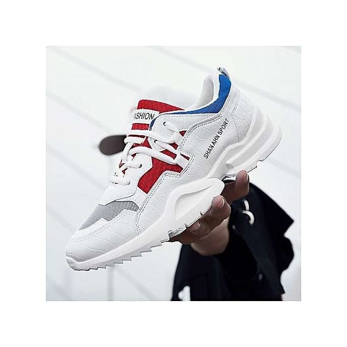 65edb7f9d88443 2018 Hot Sale Four Seasons Running Shoes Men Lace-up Athletic Trainers  Zapatillas Sports Male