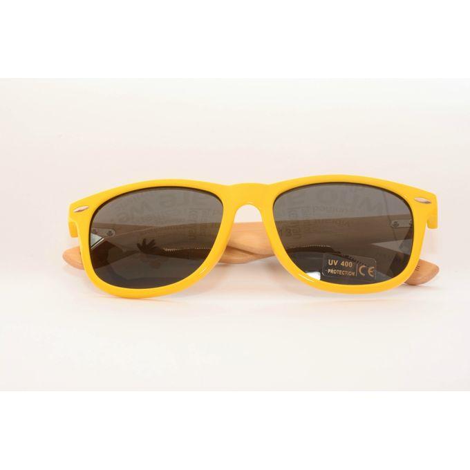 handmade bamboo frame sunglasses unisex yellow - Yellow Frame Sunglasses