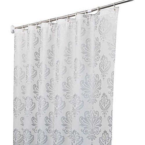 Generic Europe White PEVA Bath Curtains Flower Eco Friendly Waterproof Shower Curtain Bathroom