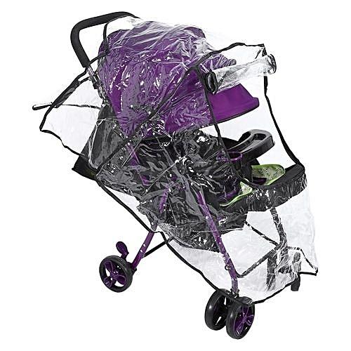 befbffe5ef74 Pushchair Pram Rain Cover Universal Buggy Baby Wind Dust Shield Stroller  Accessories