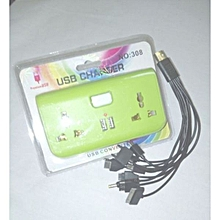USB charger/converter- green