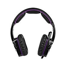 SA-930 3.5mm Gaming Headsets with Microphone Noise Cancellation Music Headphones Black-purple for PS4 New Xbox One Laptop Tablet PC Mobile Phones Black &Purple