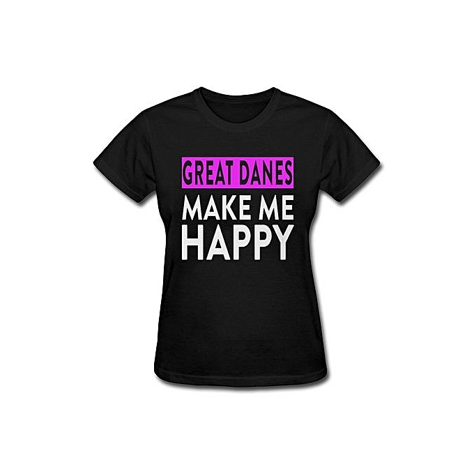 3f400a14 Customized Clothes Store Womens Short Sleeve T-Shirt Great Danes Make Me  Happy