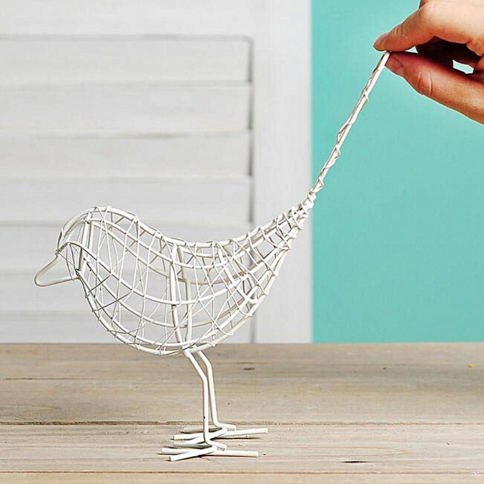 Buy Generic e2e Brushed Paint Metal Wire Bird Garden Outdoor Flower ...