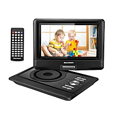 "10.5"" DVD Player Adjustable Screen 5000mAh DVD/ USB/ SD Input Car Package  - Black"