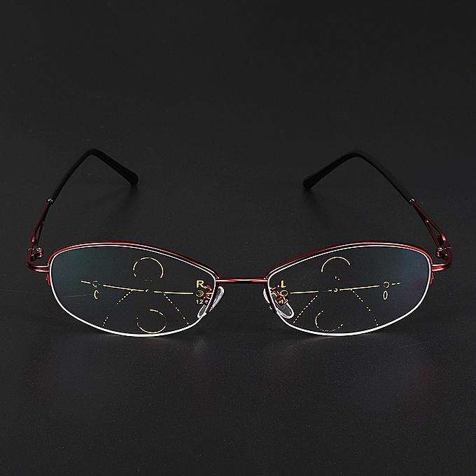 ... KCASA Progressive Multifocal Lens Presbyopia Reading Glasses Alloy  Frame Anti Fatigue ... 2d855fec298e