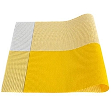 Yellow Table Mat - 45cm x 32cm - 6Pcs