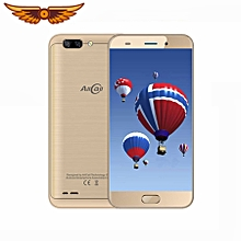 AllCall Atom 4G Mobile Phone 5.2'' HD 2.5D Curved Screen Dual Rear Cam Android 7.0 MTK6737 Quad Core 2GB+16GB 8MP Phone - Gold