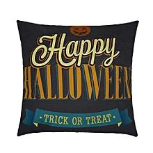 Happy Halloween Pillow Cases  Linen Sofa Letter Cushion Cover Home Decor D
