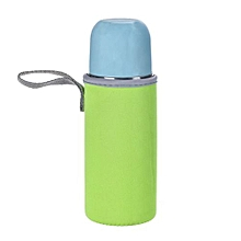 Clear Plastic Water Cup Bottle Portable Bag -Green