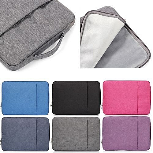 ce0267c495d Coosybo 15 Inch Laptop Sleeve, Hand Bag Nylon Pouch Case For Macbook Air  15.4 Lenovo Laptop All Notebook, Gray