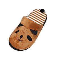 Xiuxingzi_Lovely Cartoon Panda Home Floor Soft Stripe Slippers Female Shoes 36-40