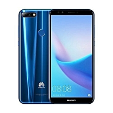 """Y7 Prime (2018) - 32GB+3GB RAM - 5.99"""" Display - Android 8 - Face Unlock - Blue."""