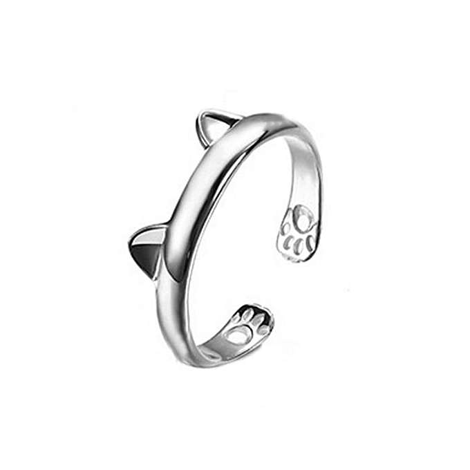 Ring In Kaars.Buy Fashion Chic S925 Sterling Silver Cat Ear Adjustable Ring Ear