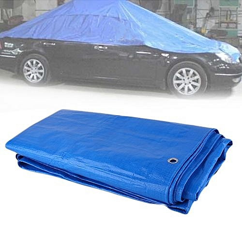 Car Tarpaulin Luggage Cover Canvas Sheet Roof Shelter Tent Canopy Waterproof