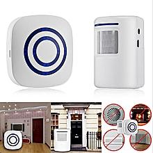 Wireless Door Motion Sensor Detector Smart Visitor Doorbell Home Security Alarm
