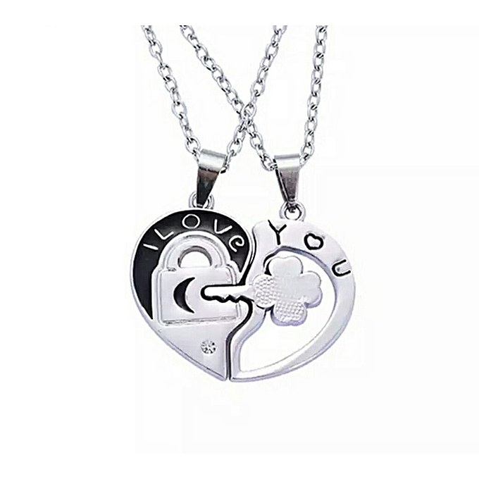 Buy generic i love you pendant couple necklace best price online i love you pendant couple necklace mozeypictures Image collections