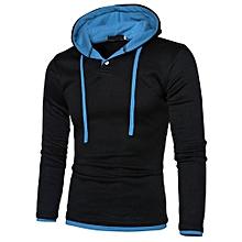 Men Long Sleeve Hoodie Warm Hooded Coat Jacket Outwear Sport Tops BU/3XL-blue