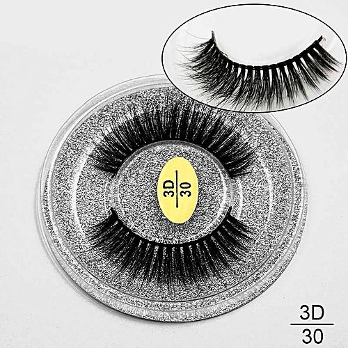 af0de9b974c Generic 3D Mink Eyelashes Natural Long False Lashes Full Strip Lashes Thick  Faux Mink Lashes HandMade False Eyelashes Makeup Tool cilios(30)
