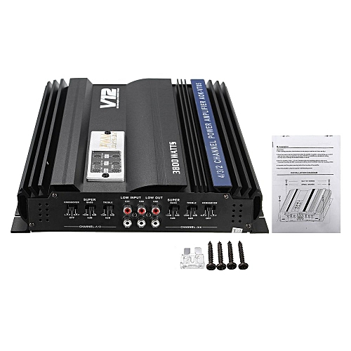 Universal 3800 Watt Rms 4 Ch Channel Powerful Car Audio Power Stereo