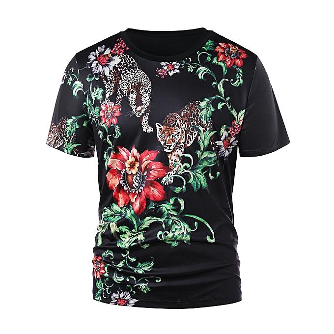 4b9a6d78 Fashion 3D Floral Tiger Print T-shirt @ Best Price | Jumia Kenya