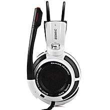 G941 - Virtual Surround Sound USB Gaming Headset Mic Vibration - White