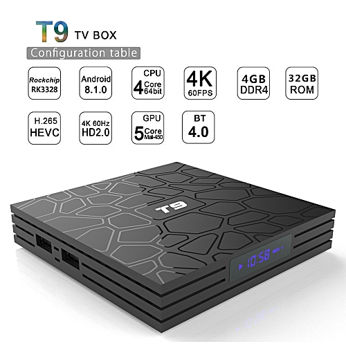 tv box android t9  Generic T9 Android TV Box 4GB RAM +32GB ROM WFi 100Mbps USB 3.0 XBMC ...