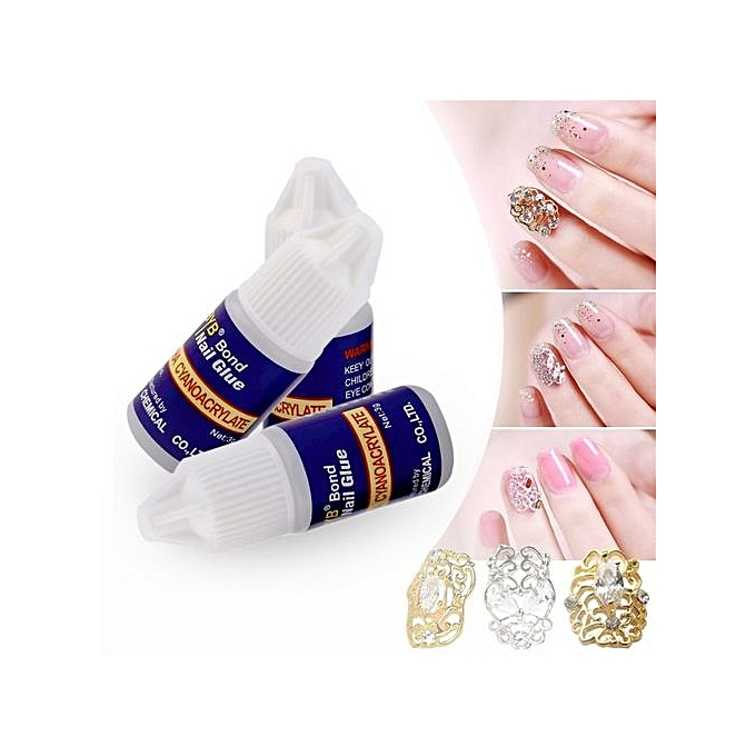 3pcs/set Nail Beauty Professional Naial Art Glue Nails Nail Stickers Glue