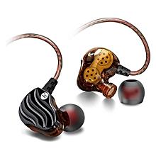 QKZ New Sport Dynamics Driver Bass Stereo In Ear HIFI Earphone with Microphone PRI-P