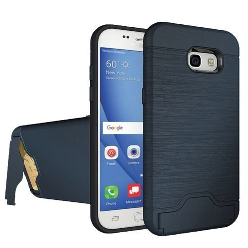 Combination Back Case With Holder And Card Slot Black Intl For Samsung Galaxy A5 2017 A520