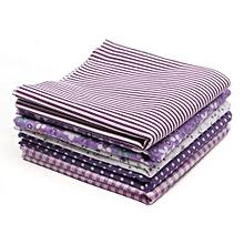 Fabric Cotton Bundles Fat Quarters Polycotton Material Florals Gingham Spots Purple