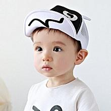 fce36ad05e459 jiuhap store Children Hat Summer Mesh Soft Brim Flanging Sun hat Baseball  Cap White-White