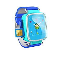 Hot Kid GPS Smart Watch Wristwatch SOS Call Location Finder Locator Device Tracker For Kid Safe Anti Lost Monitor Baby Gift Q60  (Color:Blue)