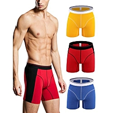 Pure Color Lengthen Mid-rised Shorts For Men White Color:Red Size:XL