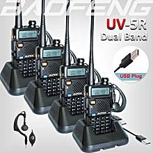 4 x Baofeng UV-5R UV 5R UV5R Walkie Talkie Dual Band Two Way Radio + Free PTT Earpiece