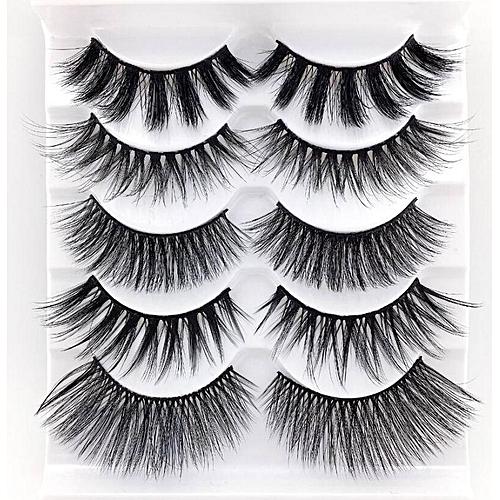 b2e75cab4ab NEW 1/3/5 pairs natural false eyelashes fake lashes long makeup 3d mink