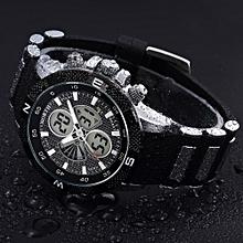 NORTH Africashop Watch  North Men Military Watches Sport Wristwatch Silicone Fashion Hours Quartz Watch-White