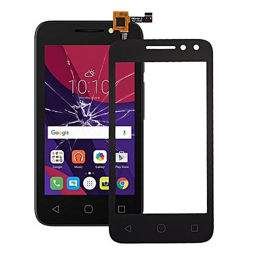 iPartsBuy for Alcatel One Touch Pixi 4 4 0 / 4034 Touch Screen(Black)