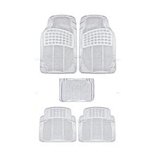 5-Piece Car Floor Mats - Clear