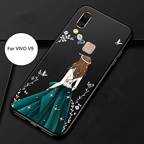 best sneakers 09fd6 f4a96 Phone Case For VIVO V9,Luxury Bling Diamond Soft Hybrid Silicone +TPU Cover  [Drop Protection] [Anti-Scratch] Soft Phone Case Cover For VIVO V9