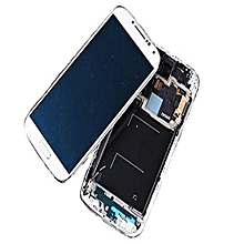 Lcd Screen With Frame Touch Screen Lcd Display Complete Screen Assembly Replacement Parts White For Samsung Galaxy I9500