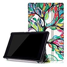 """For Amazon Fire HD8 2016 Case, Ultra Slim Case + PU Leather Smart Cover Stand Auto Sleep/Wake For 2016 Kindle Fire HD 8.0"""" - Love Tree"""