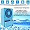 Portable 24W Spray Air Conditioning Fan Table Mini Humidifier 3 Speed Cooling Blue