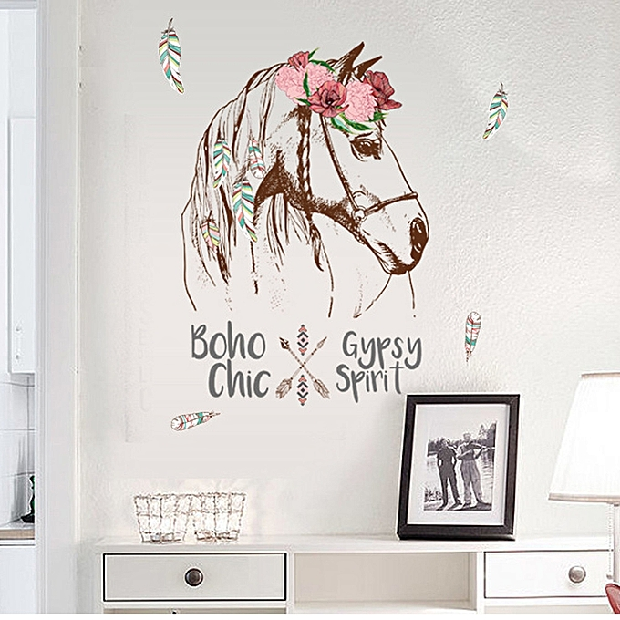 generic jummoon shop colorful horse removable vinyl decal mural home