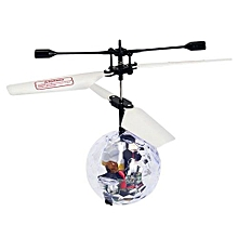 RC Flying Ball RC Drone Helicopter Ball Built-in Disco Music With Shinning LED -Clear