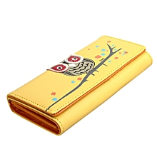 Wallet Small Fresh Wallet Mobile Phone Bag Yellow