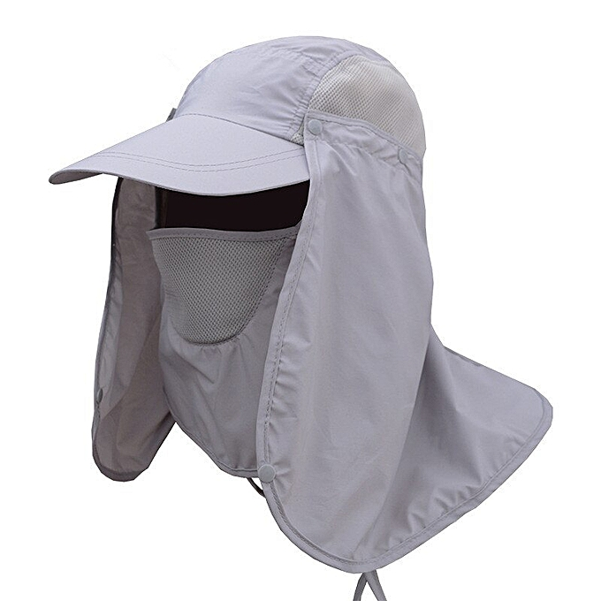 Hat Cap Uv Protection Visor Hat Breathable Sun Hats Removable Neck Sunshade Cap For Women And Men Fine Quality Apparel Accessories Men's Baseball Caps
