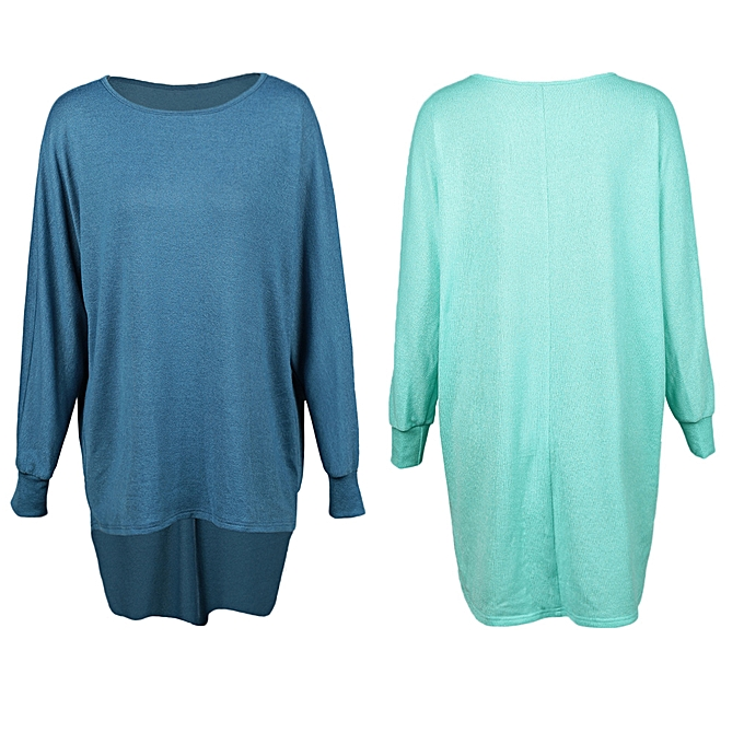 e13b1b5b4f9 ... Fashion Women T-Shirts Tops Big Size Round Collar Dip Hem Casual Plus  Size Tees ...
