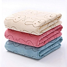 3pcs Soft Microfiber Baby Child Kids Bath Towels Brushed Strong Absorbent Dry Washcloth